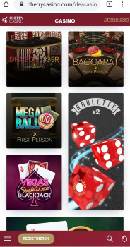 Cherry Casino mobile App