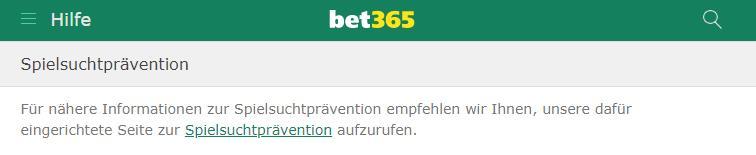 bet365 spielsuchtprävention