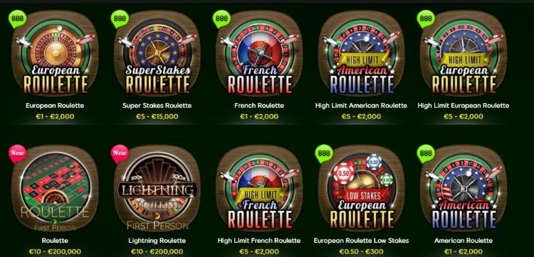 888casino Roulette Spiele
