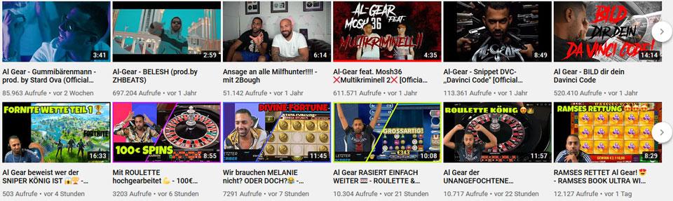 AlGear Youtube Accounts