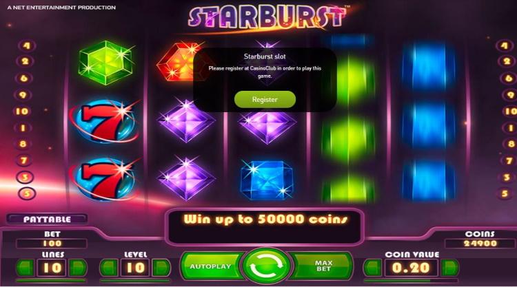 Casino Club Starburst