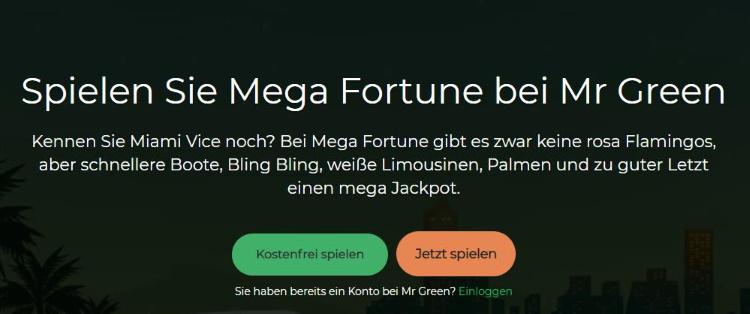 Mr Green Mega Fortune Slot spielen
