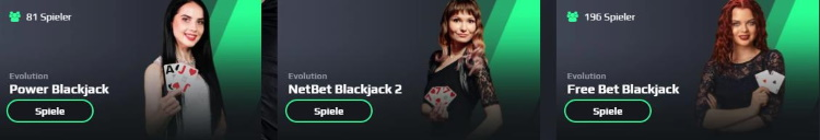 NetBet Live Blackjack