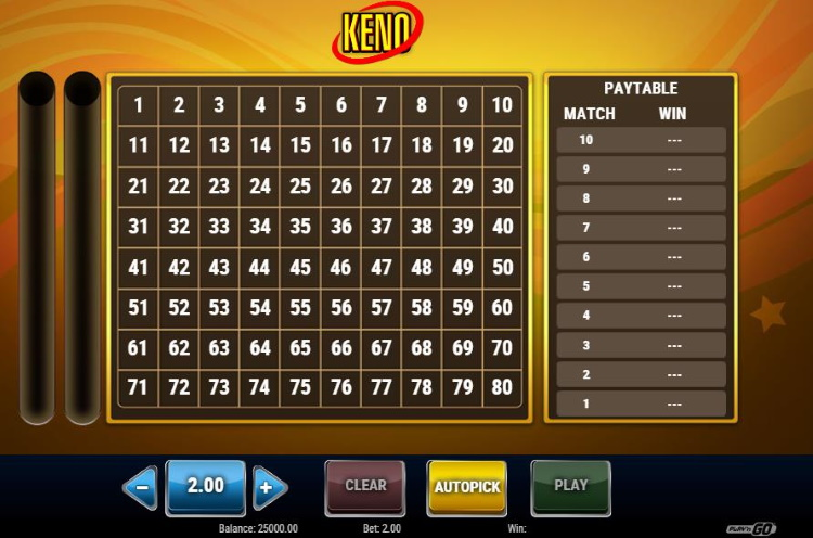 PlaynGo Classic Keno