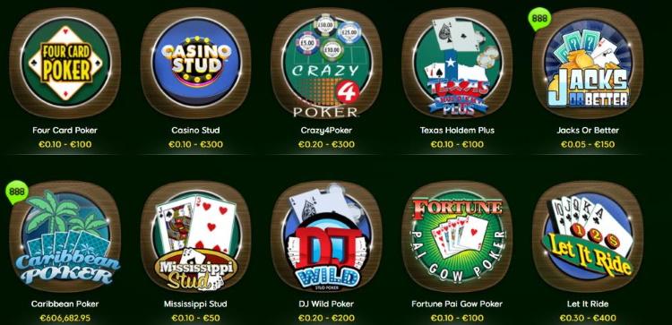 Poker im 888casino