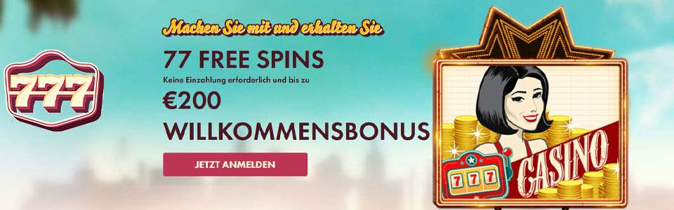 777 Casino Bonus Banner