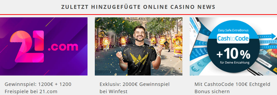 CasinoTest24 Internetseite