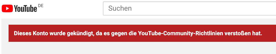 Crazy Domme Youtube gesperrt