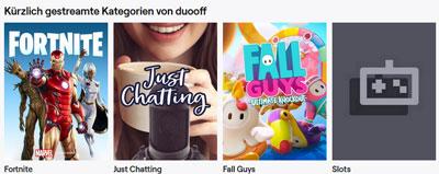 Duooff Twitch Inhalte