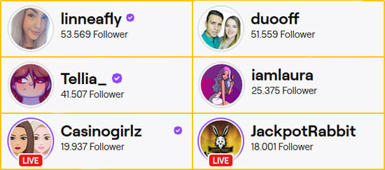 Twitch Casino Streamerinnen Rangliste