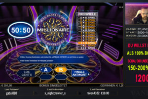 Vaneo Who wants to be a Millionaire Vorschau Bonus