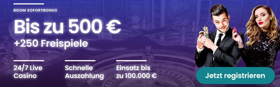 Boom Casino Bonus Banner