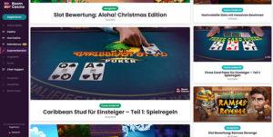 Boom Casino Vorschau Expertenbereich