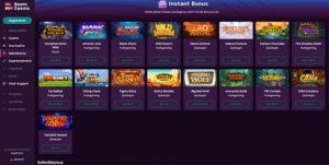 Boom Casino Vorschau Sofortbonus