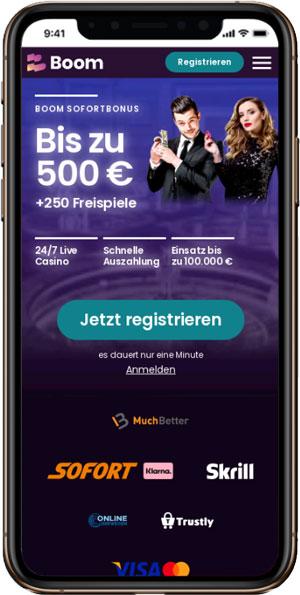 Boom mobile Casino