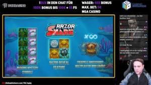 Gamble Gangsta Razor Shark Vorschau Features