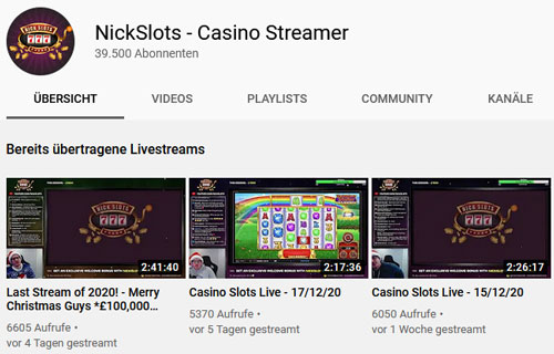 NickSlots Youtube