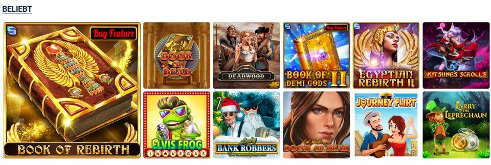 20 Bet Casino beliebte Spiele