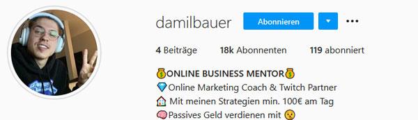 Damil Bauer Instagram