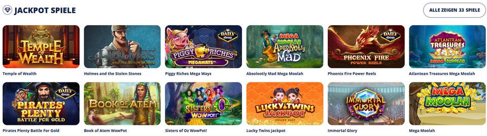 Online Slots Jackpotspiele