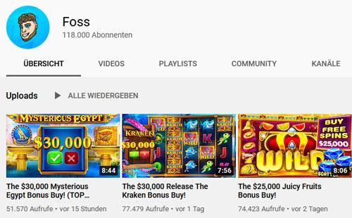 Foss Casino Streamer YouTube