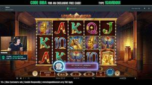 Bibaboy spielt den Legacy of Dead Slot