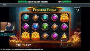 Bibaboy spielt den Phoenix Forge online Slot