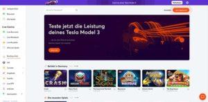 Ein Vorschaubild der Bitcasino.io Startseite
