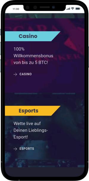 CloudBet mobile Vorschau