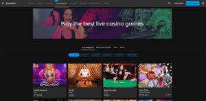 Eine Vorschau des Cloudbet Live Casinos