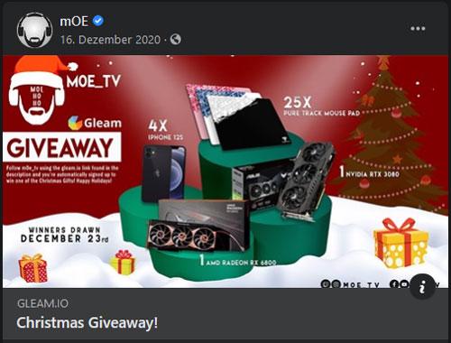 Vorschaubild einer Promoaktion von m0e_tv auf Facebook