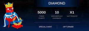 Überblick über das Oshi.io VIP Paket Diamond