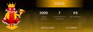 Überblick über das Oshi.io VIP Paket Gold