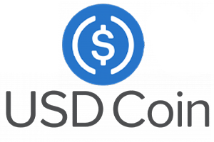 Das Logo der Kryptowaehrung USD Coin