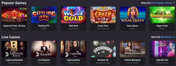 Vorschau der Rocketpot.io Spiele