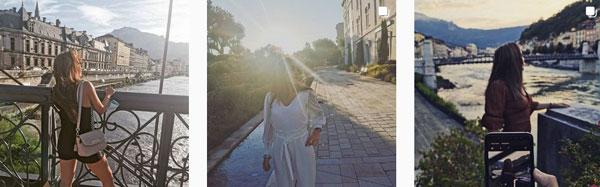 Ein Vorschaubild mit einigen Bildern von Tellias Instagram Account