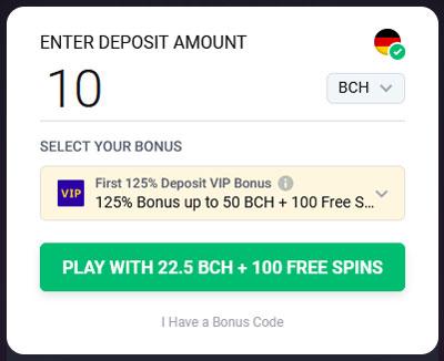 Bitstarz Einzahlung mit BCH