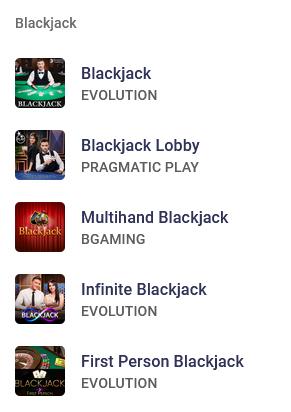 Blackjack at Roobet Casino