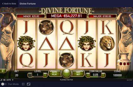 Netent's Divine Fortune at Roobet Casino