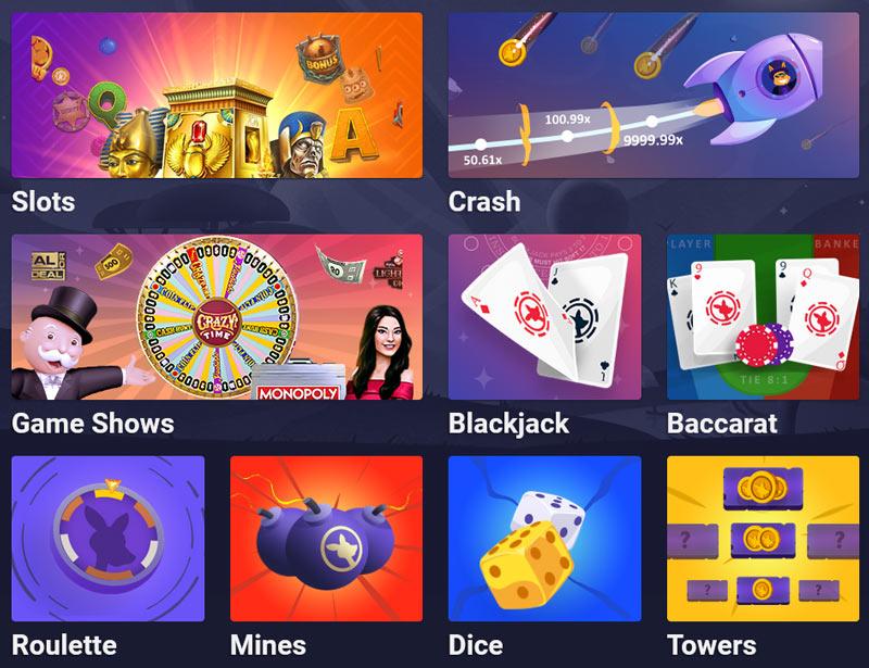 Roobet Casino Games Overview