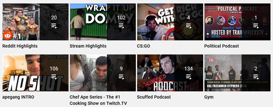 TrainwrecksTV Youtube Playlist