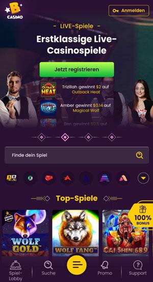 Bizzo mobile Casino