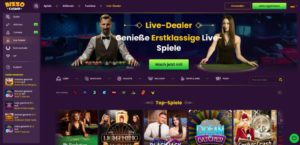 Bizzo Vorschau Live Casino