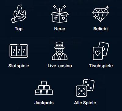 Playzilla Spielkategorien