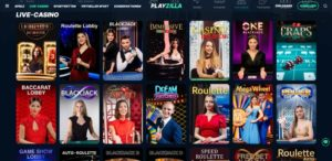 Playzilla Vorschau Live Casino